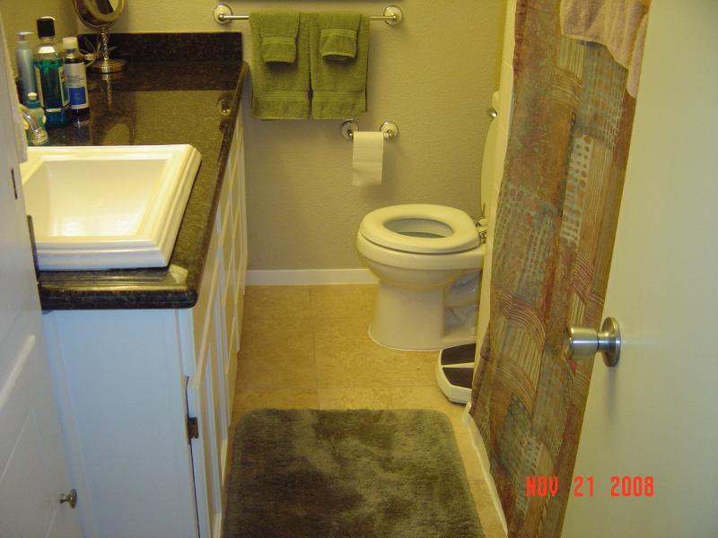 bathroom remodel completed